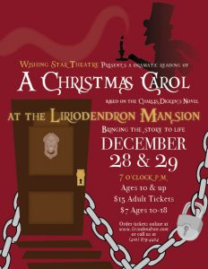 Wishing Star Theatre presents a Christmas Carol @ Liriodendron Mansion | Bel Air | Maryland | United States